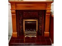 Lovely complete fire place with gas fire in vgc can deliver 07808222995
