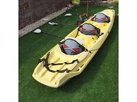 Bic Kaleo 3/4 man sit on Kayak with paddles, backrests and tow trailer