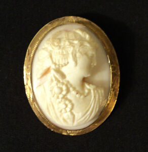 BEAUTIFUL-ANTIQUE-CAMEO-BROOCH-PENDANT-10K-MOUNTING-c-1900-1920