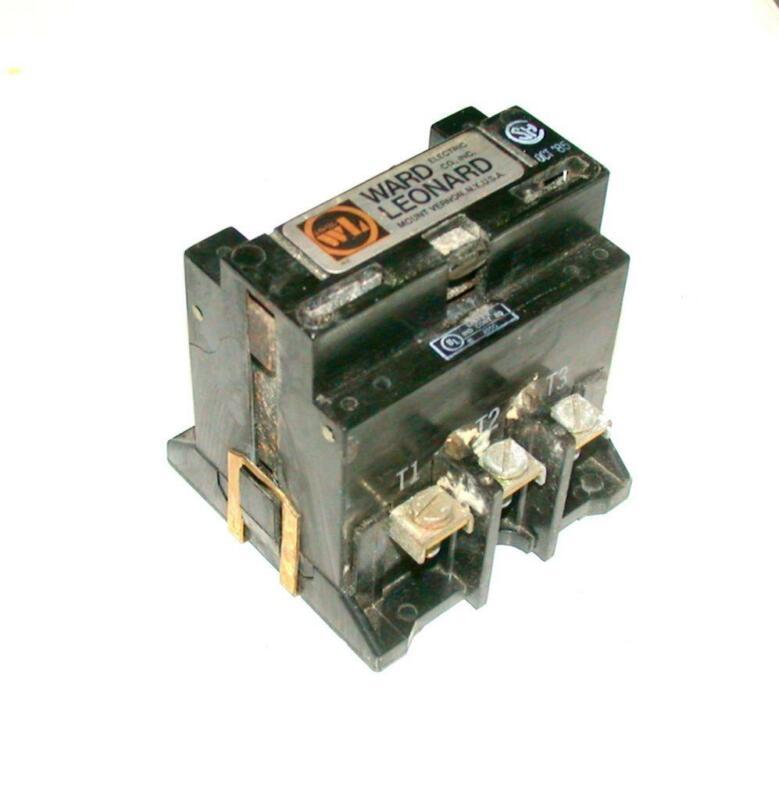 Ward Leonard  5001A3001-11  3-Phase Contactor  120 VAC COIL