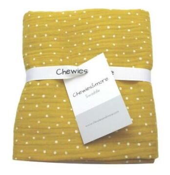 Chewies & More Swaddle 65x65 Oker Geel Dots