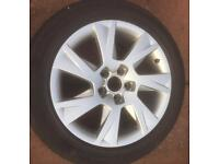 """Genuine Audi 17"""" Alloys with tyres. 5 x 112 Will fit VW Seat Skoda"""