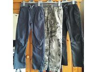 Three Pairs of Boy's Winter Trousers Age 9-10 Years GC - cash on collection from Gosport Hampshire
