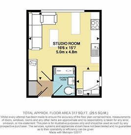 Fully Furnished Studio Flat New Malden