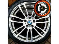 "19"" Genuine BMW M Sport staggered 3 ser alloys Continental tyres."