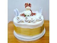 1 Tier Gold & Cream Nappy Cake