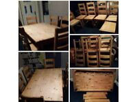 VERY CHEAP. SOLID WOOD TABLE AND 6 CHAIRS