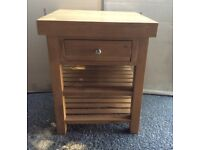 Solid Oak Kitchen Island, New / Unused