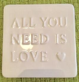 Shabby Chic Message Plaque