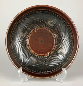 HELEN WALTERS for DOULTON LAMBETH c1950's STONEWARE BROWN GLAZED BOWL DISH PLATE