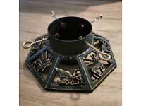 Decorative cast iron Christmas tree stand / base