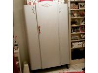 *Double shabby chic vintage upcycled wardrobe* Cath Kidston wallpaper