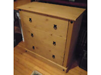 Corona 3-Drawer Chest For Sale