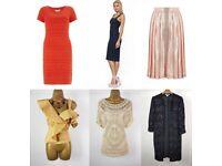 Joblot Mix of Brand New Fashion High Street Clothes: Karen Millen, Coast, Monsoon, Oasis, Warehouse