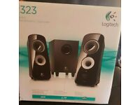 Logitech z-323 speakers (2 speakers, 1 sub)