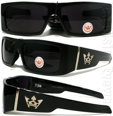 Triple Crown High Roller Glossy/Black OG LOC Style Sunglasses Super (Triple Crown Sunglasses)