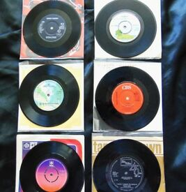 "6 x 7"" Vinyl singles from the 60's - 70's & 80's MINT CONDITION RARE! Lot 4 of 4"
