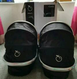 Icandy Peach Twins Carrycot Black Magic I candy