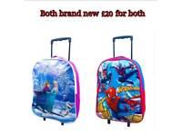 X2 Disney kids boys and girls trolley wheeled bag