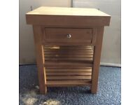 Kitchen Island, Solid Oak, New / Boxed