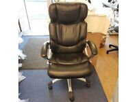 True Seating Black Leather Executive Chair