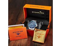 Stuhrling Original Blue Dial Professional Divers Watches for Men Collection