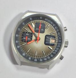 HEUER 7765 Valjoux CHRONOGRAPH Mechanical watch. Made in FRANCE vintage