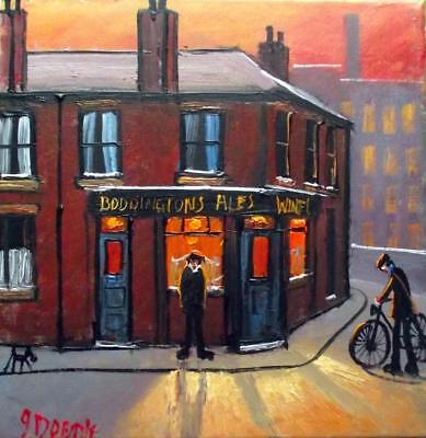 Original BEST Oil Painting Noted Artist James Downie : Off for a Boddingtons (Best Oil Paints For Artists)
