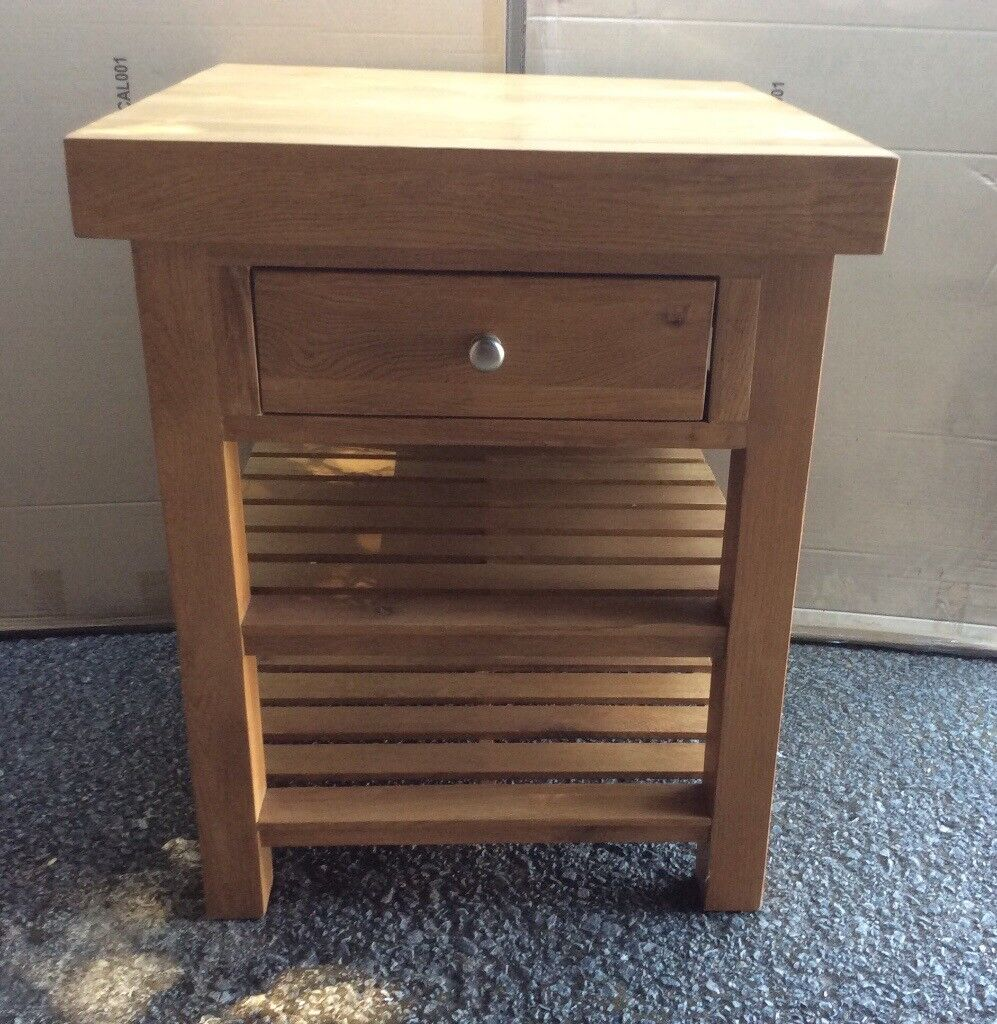 solid oak kitchen island, new !! | in carlton, nottinghamshire