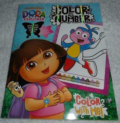 DORA THE EXPLORER COLOR BY NUMBER COLORING BOOK  EASY TO FOLLOW COLOR KEY  BOOTS](Easy Color By Number)