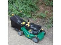Green PowerBase Petrol Mower As New Condition