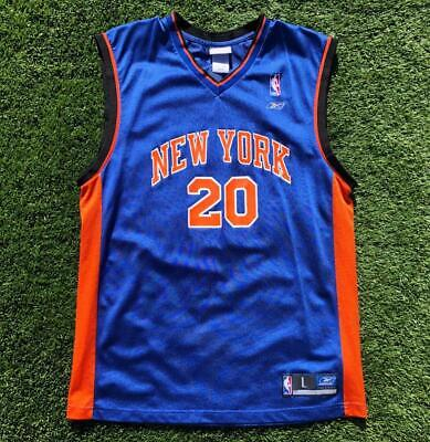 Rare VTG Blue Reebok New York Knicks Houston #20 NBA Basketball Jersey L