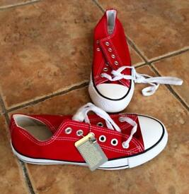 Genuine Brand New Red Converse Size 6.5
