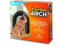 jml purrfect arch cat self-grooming & massaging toy