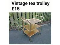 Retro tea trolley