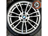 "19"" Genuine BMW M Sport 3 ser alloys staggered great cond excel premium tyres."
