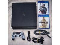 PS4 playstation 4 pro with 1tb hdd, camo controller and games!!!