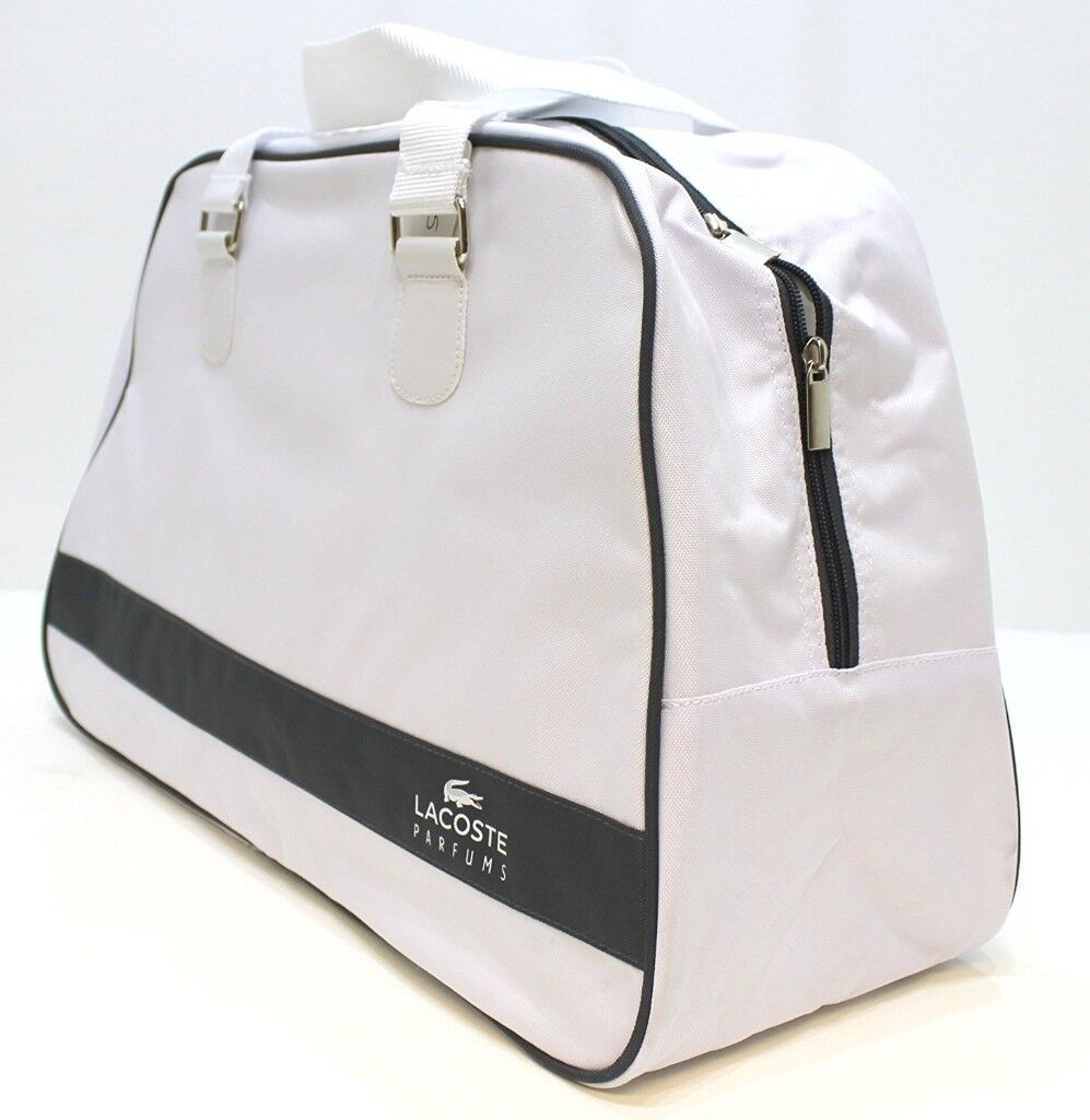 5a4147b174a918 High quality - White Lacoste Sports Gym Travel and Beach Bag