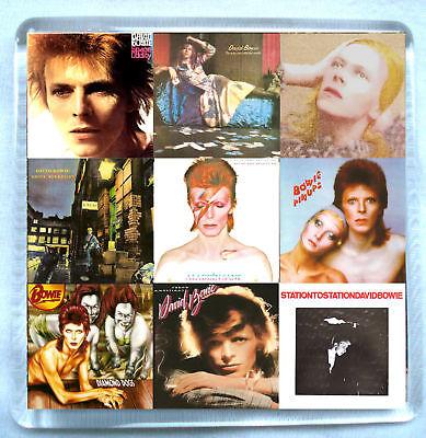 David Bowie-Discography Fridge Magnet Marc Bolan Aladdin Sane Ziggy Stardust
