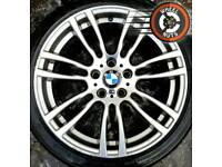 """19"""" Genuine BMW M Sport 3 ser alloys staggered great cond excel premium tyres."""