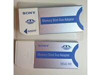 Sony Memory Stick Duo adapters (adapters only, no memory cards)