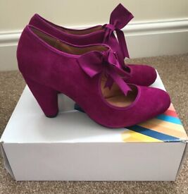 Office Magenta Suede Woman's Shoes