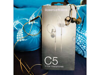 Bowers & Wilkins C5 In-Ear Headphones - Excellent Condition, barely used