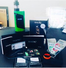 SMOK ALIEN 220W vape pen. Great condition and comes with lots of extras and features.