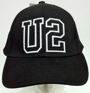 U2-OFFICIAL-100-BLACK-COTTON-BASEBALL-CAP-ONE-SIZE-FITS-MOST-BRAND-NEW-WITH-TAG