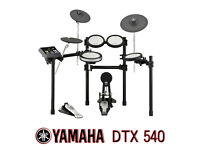 Yamaha DTX 540 electronic drum kit pedal stool full silicon set READY to play