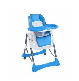 reclining blue highchair