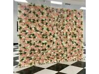 Large luxury Flower wall hire from £120- baby shower blocks, sweet cart, Prosecco wall, donut wall