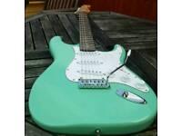 Fender stratocaster copy surf green