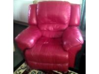 *****£295***** LUXURY REAL LEATHER QUALITY FULL RECLINER SUITE SUPERB